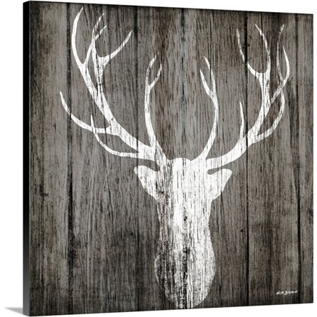 Great BIG Canvas | Nicholas Biscardi Premium Thick-Wrap Canvas entitled Sophisticated Deer on (Sophisticated Decor)