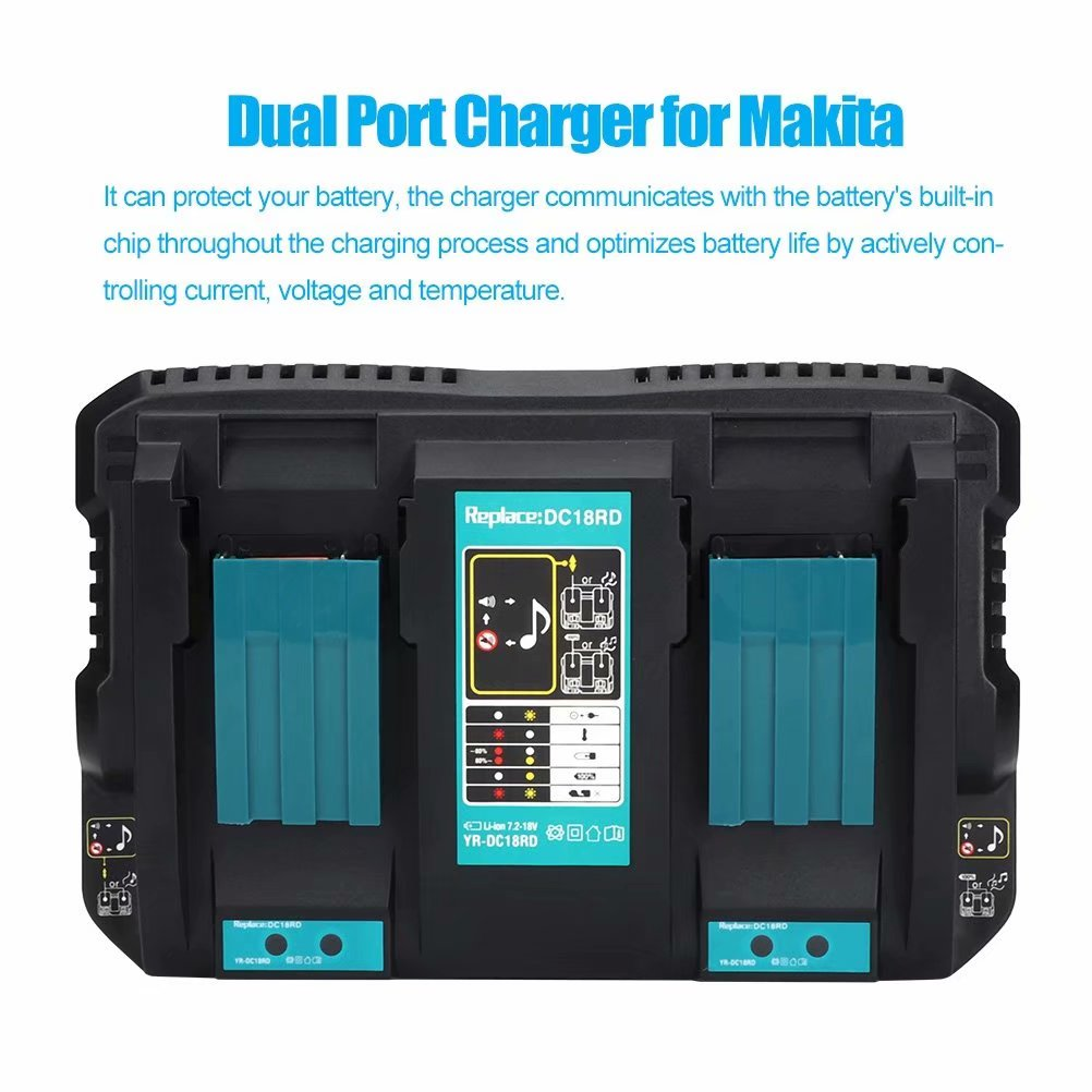 Details about  /18V 6.0Ah Battery or Charger Fit for Makita BL1860B Li-ion BL1850B LED Indicator