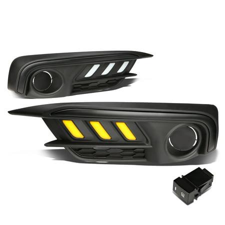 For 2016 to 2017 Honda Civic Coupe / Sedan LE EX Pair Running Amber LED DRL Fog Light /