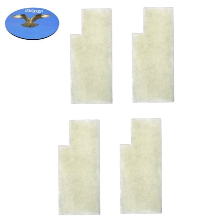 HQRP 4-pack Secondary Filters for Hoover Tempo WidePath U5140900 U5145900 U5148900 Bagged Upright Vacuums + HQRP Coaster