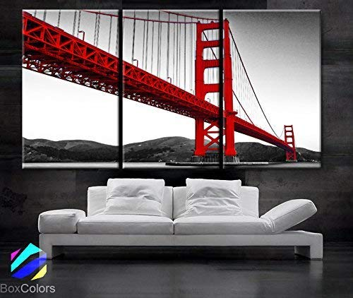 San Francisco   City BOX FRAMED CANVAS ART Picture HDR 280gsm