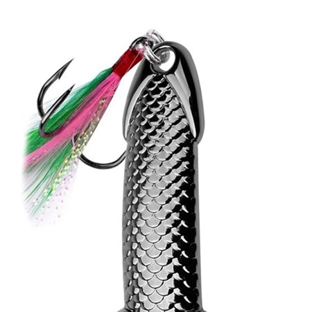fashionhome 3g/7g/11g/15g/21g/28g/36g Metal Spoon Fishing Bait Feather Hook Fish Scale Sequins Spinnerbait Hard Lures - image 3 of 5