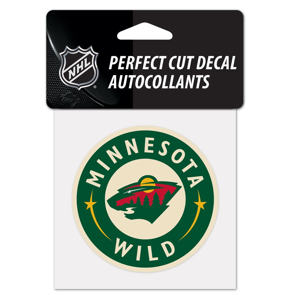 "Minnesota Wild Official NHL 4"" x Automotive Car Decal 4x4 by Wincraft 219725"