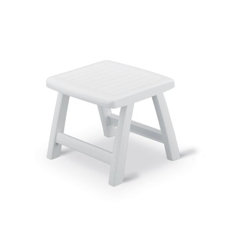 Kettler Roma High Impact Resin Foldable Oudoor Patio Side Table Ottoman, White