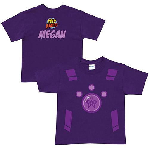 Personalized Wild Kratts Creature Power Suit Girls' Purple T-Shirt
