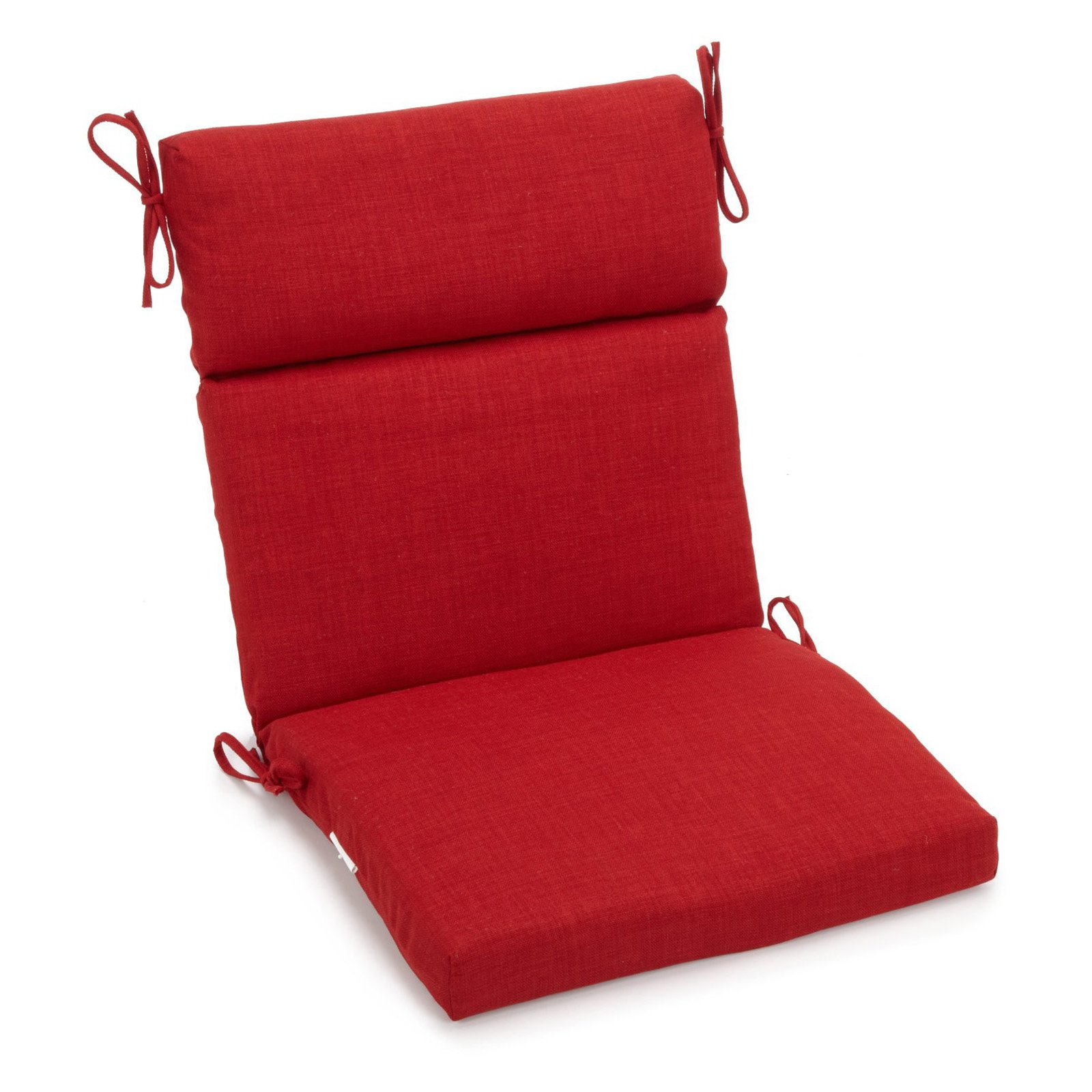 Blazing Needles Outdoor 3 Section 19 X 42 In. High Back Patio Chair Cushion