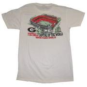 UGA Sanford Stadium Adult SS T-shirt - White