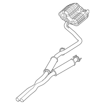 Genuine Oe Mopar Muffler Pipe Assembly 53010368ab Walmart Com