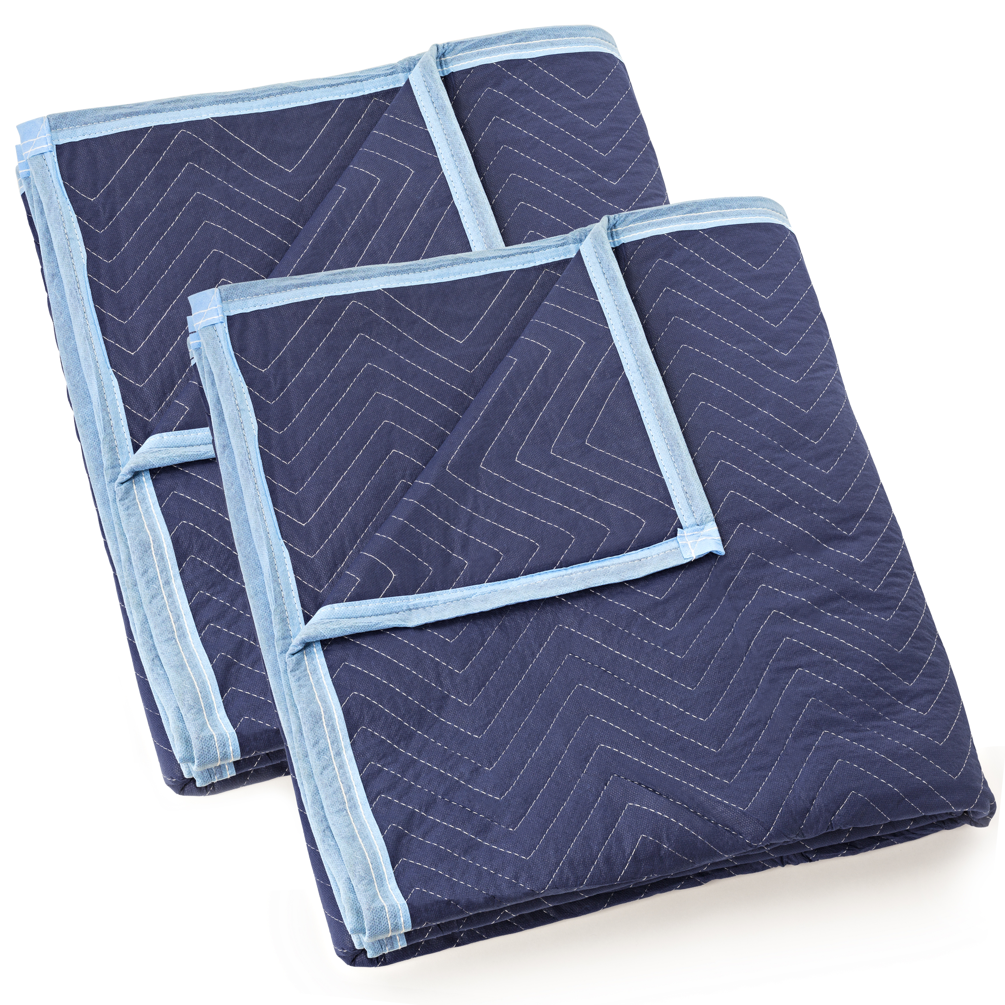 """Sure-Max Moving & Packing Blanket - Deluxe Pro - 80"""" x 72"""" (40 lb/dz weight) - Professional Quilted Shipping Furniture Pad Royal Blue"""