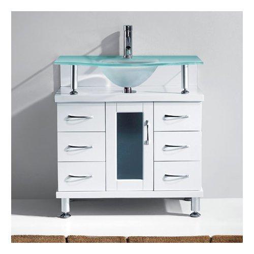 Latitude Run Runge 32 Single Bathroom Vanity Set With Frosted