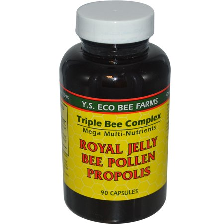 Y s eco bee farms royal jelly bee pollen propolis capsules, 90