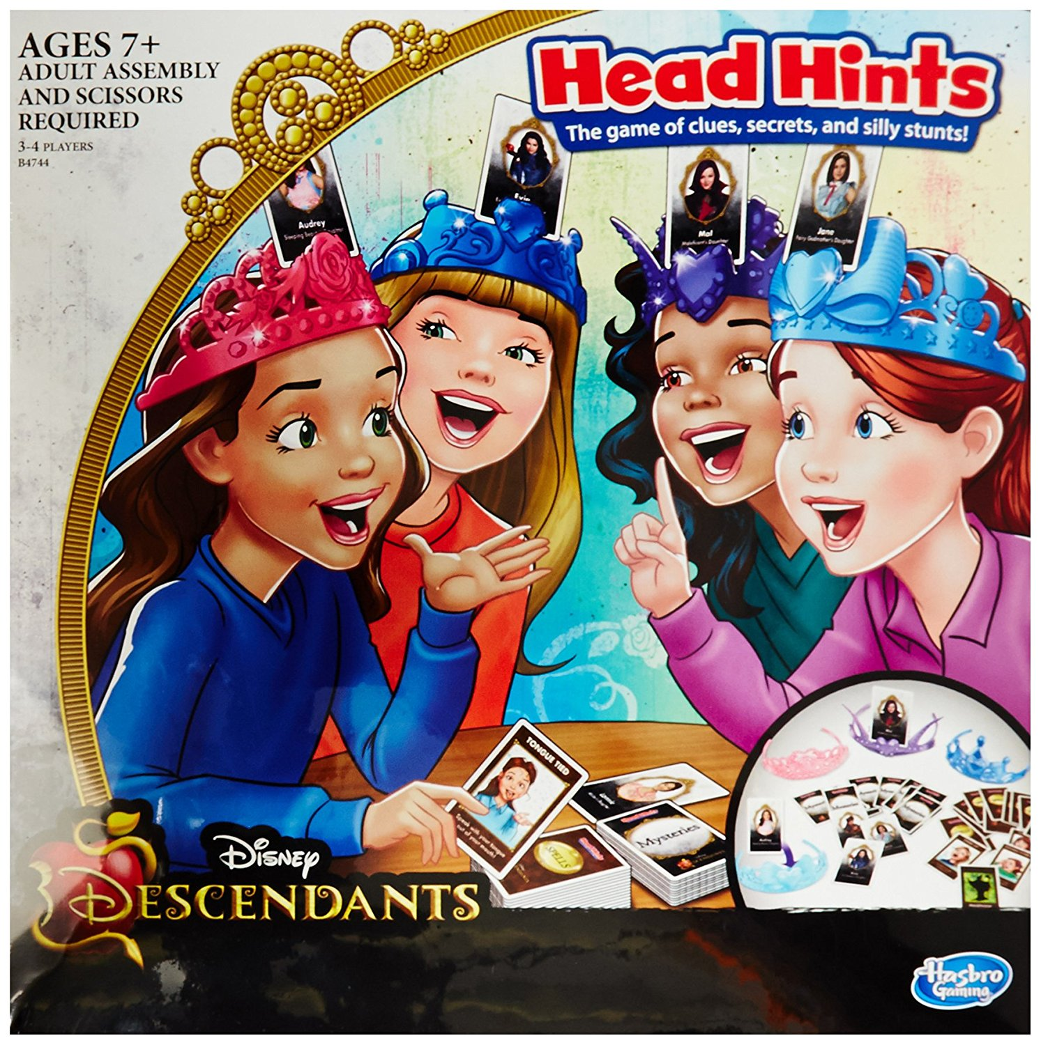 Disney Descendants Head Hints Game..., By Hasbro Ship from US by