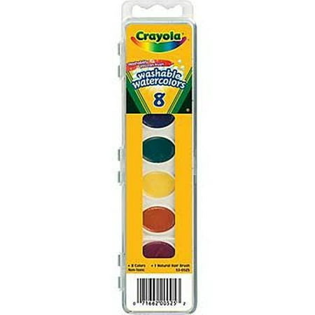- Crayola Washable Watercolors 8 Count (Pack Of 2)