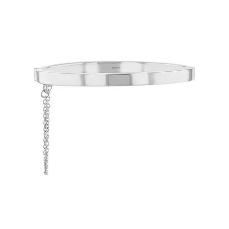 925 Sterling Silver High Polished Plain Bangle Bracelet for Babies Infants Infant Baby Bracelet