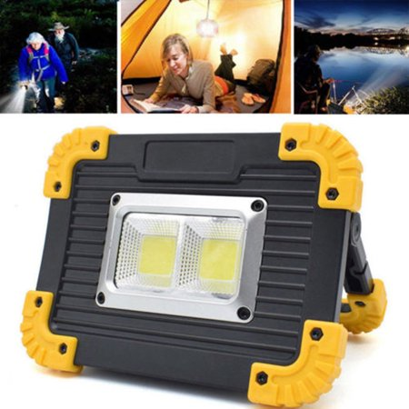 20W COB LED Work Light Rechargeable Handle Flashlight Torch Camping Lamp 3