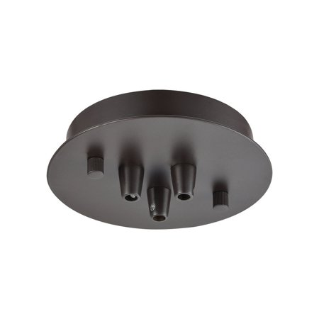 New Product ELK Lighting The Illuminaire Accessories 3 Light Small Round Canopy In Oil Rubbed Bronze 3SR-OB Sold By VaasuHomes