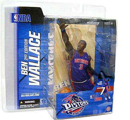 Ben Wallace Action Figure Blue Jersey Corn Row Variant NBA