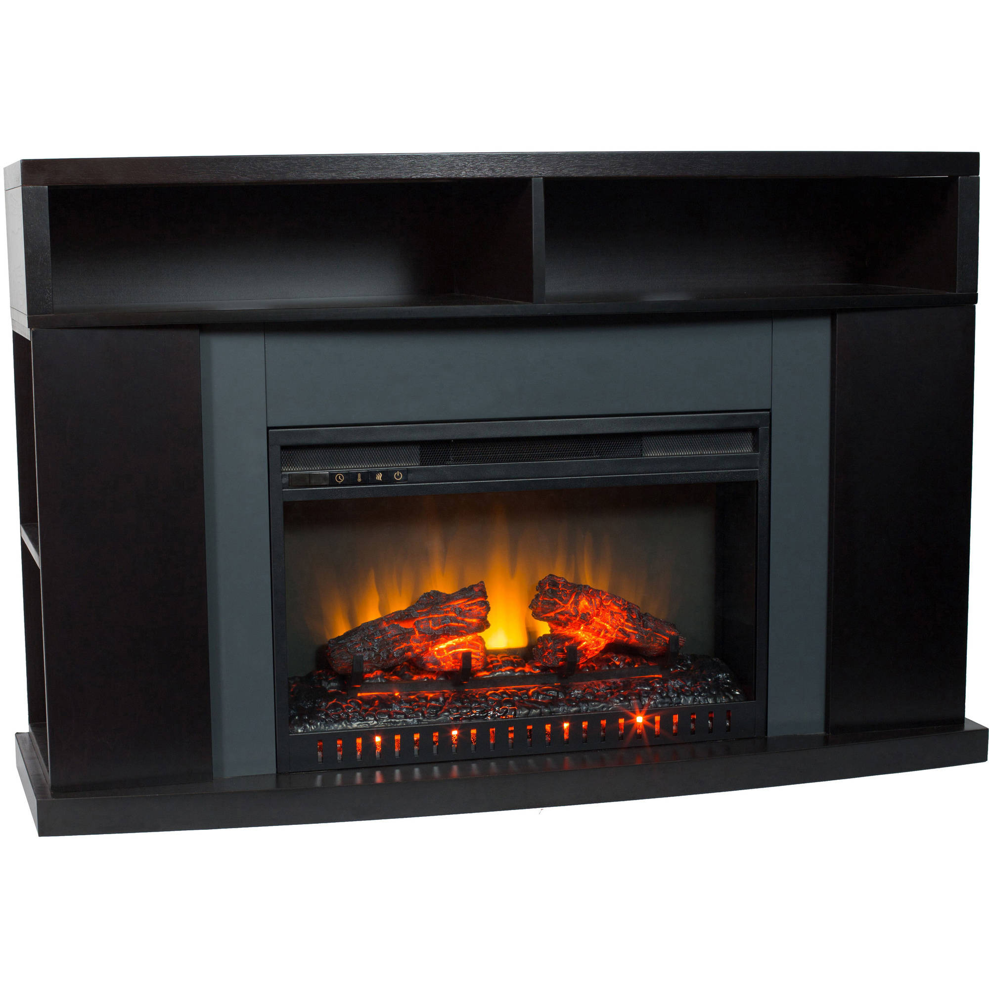 decor flame media unit with electric fireplace instructions