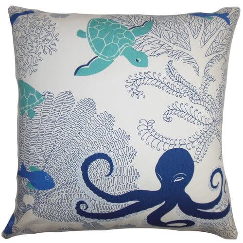 The Pillow Collection Ondine Coastal Cotton Throw Pillow