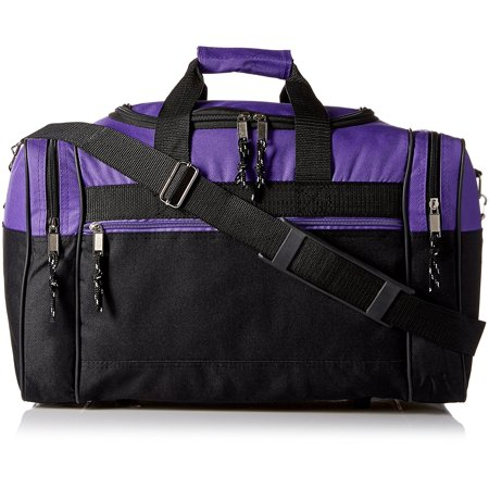 Blank Duffle Bag Duffel In Black And Purple Gym By Dalix