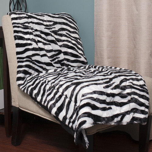 Sweet Home Collection Super Soft Zebra Throw Blanket