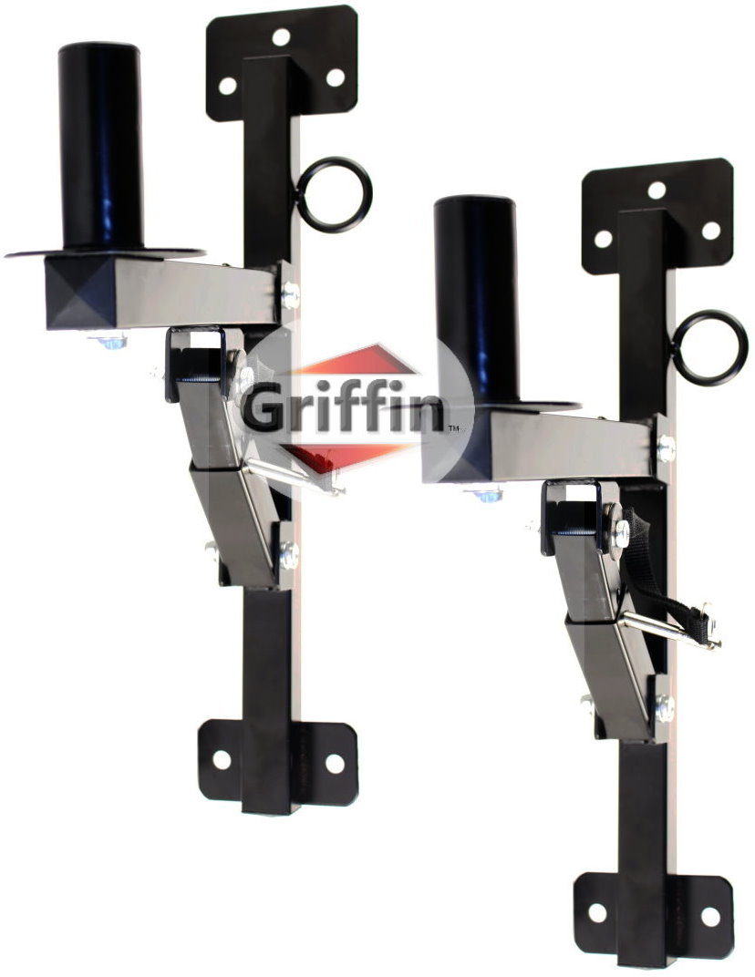 Premium PA Speakers Wall Mount Brackets By Griffin � Set Of 2 Professional All Steel Audio Speaker Holders � With... by Griffin