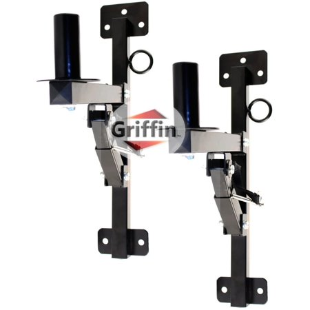 Mount Pa Speaker (PA Speakers Wall Mount Brackets By Griffin Set Of 2 Professional All Steel Audio Speaker Holders With Securing Locking Pin & 3 Horizontal Level Tilt Adjustments 180 Lbs Weight)