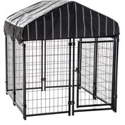 "Lucky Dog 52""H x 4`W x 4`L Pet Resort Kennel with Cover"