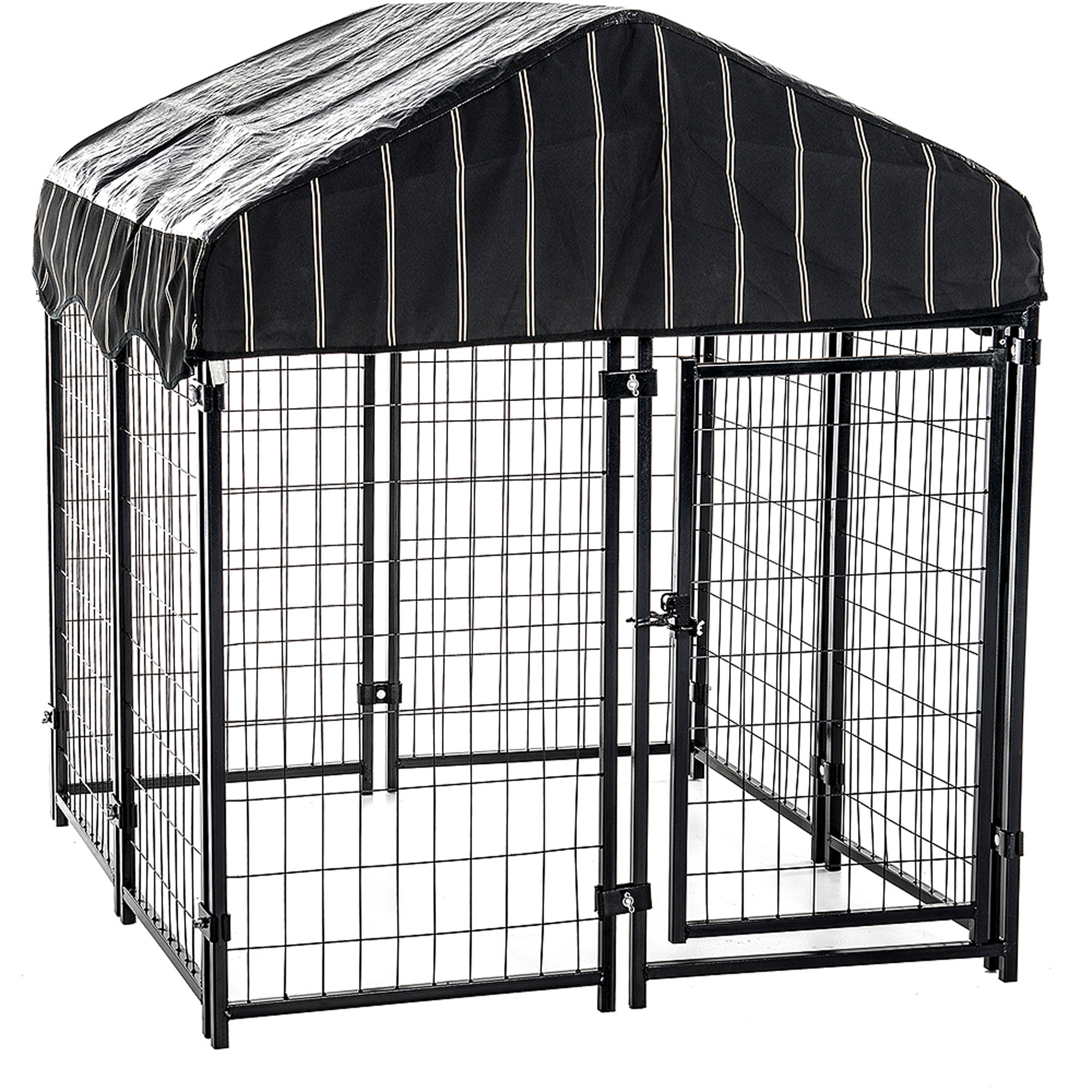 "Lucky Dog 52""H x 4'W x 4'L Pet Resort Kennel with Cover"