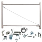 """Adjust-A-Gate Steel Frame Gate Building Kit, 36""""-72"""" Wide Opening Up To 6' High"""