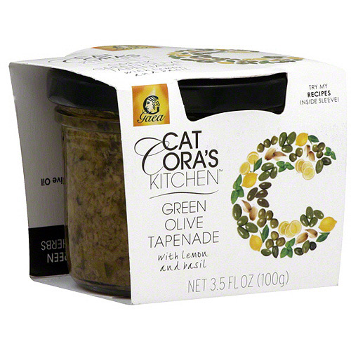 Cat Cora's Kitchen Green Olive Tapenade with Lemon and Basil, 3.5 fl oz (Pack of 6)