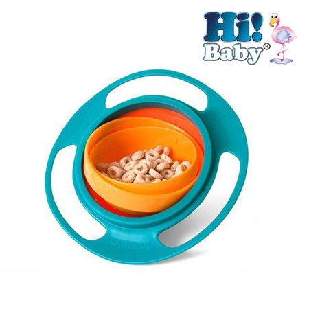 Hi! Baby 1 Anti Spill Bowl Smart Snacker Baby / Toddler 360 Rotating Bowl Gyroscope Kids UFO Spill Dish for