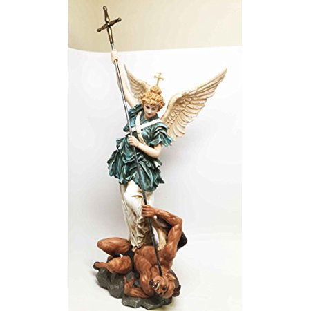 Saint Michael Archangel - BAROQUE SAINT MICHAEL ARCHANGEL SCULPTURE MICHAELSKIRCHE CHURCH GERMANY MUNICH
