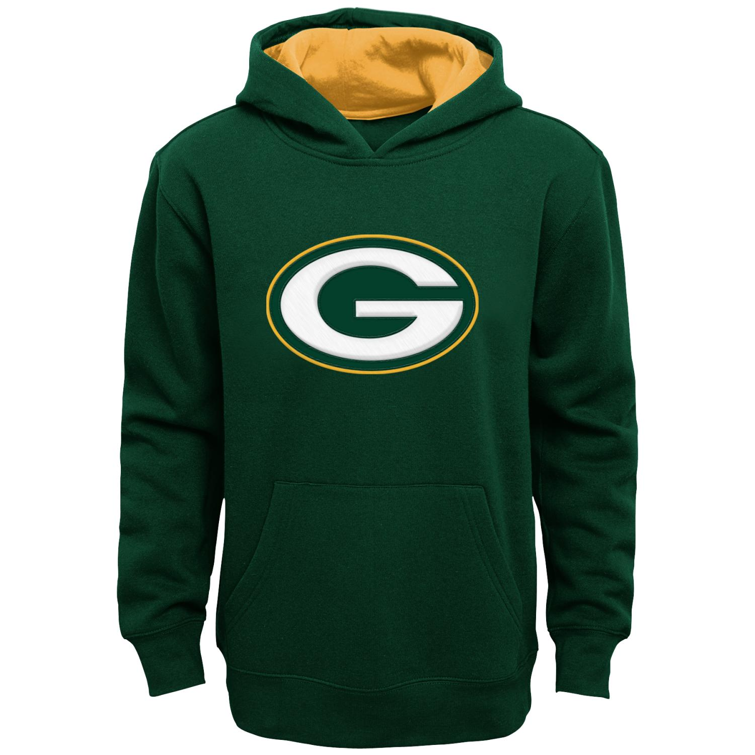 "Green Bay Packers Youth NFL ""Primary"" Pullover Hooded Sweatshirt"