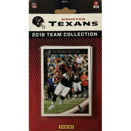 Houston Texans 2018 Donruss NFL Football Complete Mint 11 Card Team Set with Deshaun Watson, Lamar Miller and J.J. Watt plus