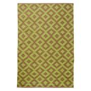 Koko Company Tile 4 x 6 ft. Hand Loomed Indoor Reversible Rug - Periwinkle / Shell