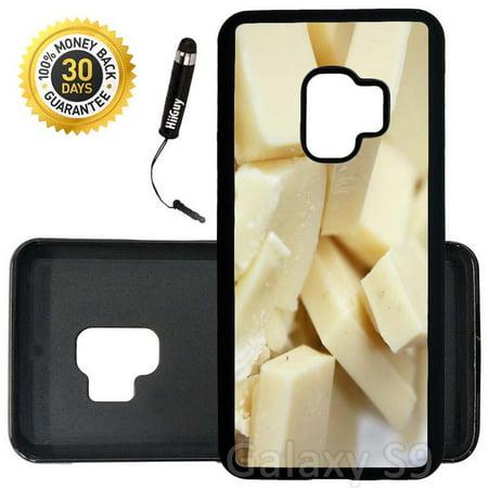 Custom Chocolate - Custom Galaxy S9 Case (Yummy White Chocolate) Edge-to-Edge Rubber Black Cover Ultra Slim   Lightweight   Includes Stylus Pen by Innosub