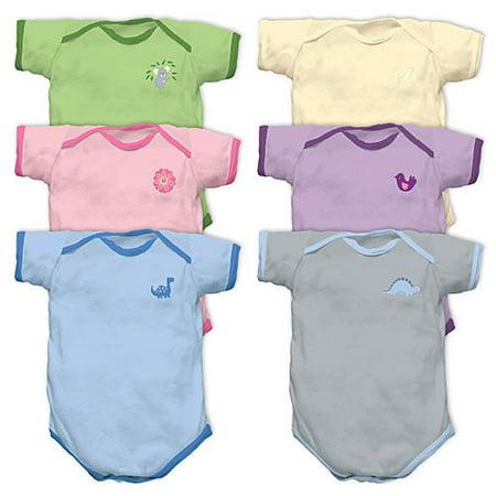 i play Origins Organic Cotton Short Sleeve Baby Bodysuit (Small, Natural)