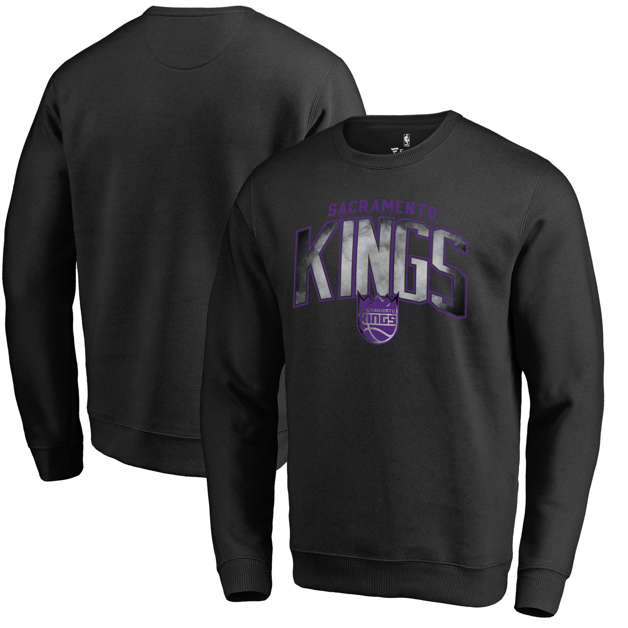 Sacramento Kings Fanatics Branded Arch Smoke Pullover Sweatshirt - Black