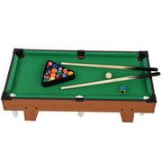 Tebru Cue Pool, Mini Pool Table Children Kids Snooker Billiards Set Cues Balls for Indoor Sports, Billiards Pool
