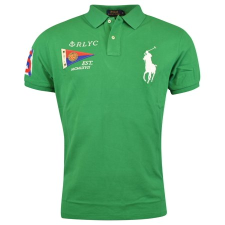 - Polo Ralph Lauren Mens Custom Fit Big Pony Mesh Polo Shirt - XS - Green