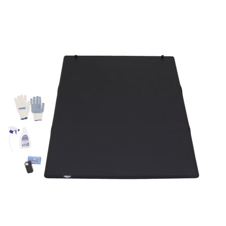 Tonno Pro LR-3095 LoRoll Rollup Tonneau Cover; Incl. Sure Seal Tailgate Seal; Tonno Torch LED Bed Light; Pro Clean 10 oz Spray Vinyl Cleaner; PVC Truck Work Gloves;