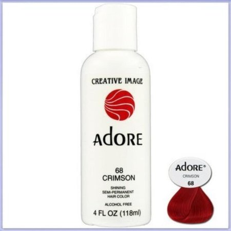 Creative Image Hair Color #64 Ruby Red by, Adore: Semi Permanent Hair Colour - Crimson [68] By