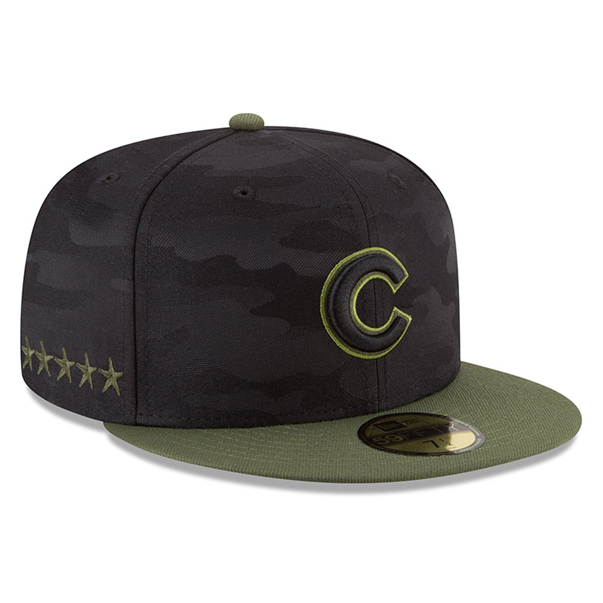 chicago cubs new era 2018 memorial day on-field 59fifty fitted hat - black