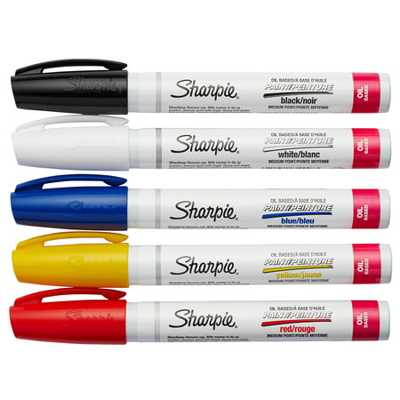 Sharpie Medium Point Oil-Based Paint Markers, 5