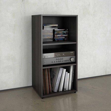 Nexera Allure Open Storage Cabinet, Ebony