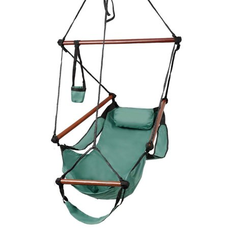 Zimtown Portable Hammock Rope Chair Cacolet Hanging Swing Outdoor Seat Patio Porch Garden Beach Camping (Hanging Porch Swings)