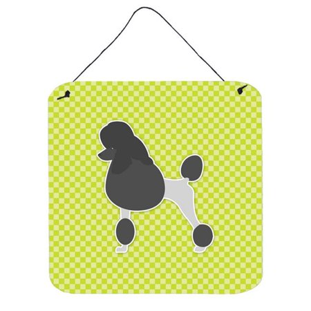 Poodle Checkerboard Blue Wall or Door Hanging Prints - image 1 de 1