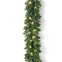 """National Tree 9' x 10"""" Winchester Pine Garland with 50 Clear Lights"""