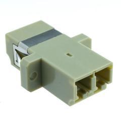 Fiber Optic Coupler, LC/LC Female, Duplex, Plastic Housing